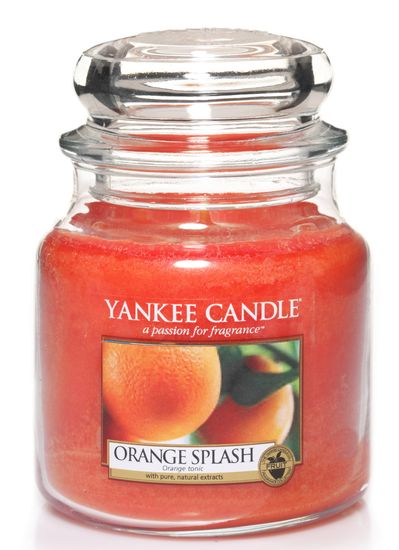 Yankee Candle vonná svíčka střední Orange Splash, 411 g