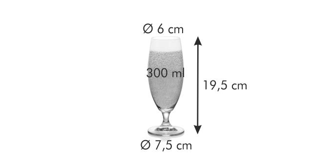 Tescoma CREMA sklenice na pivo 300 ml