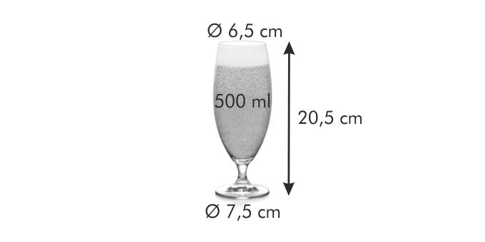 Tescoma CREMA sklenice na pivo 500 ml