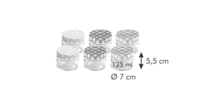 Tescoma DELLA CASA zavařovací sklenice 125 ml 6 ks