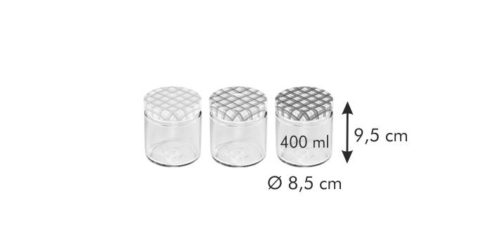 Tescoma DELLA CASA zavařovací sklenice 400 ml 3 ks