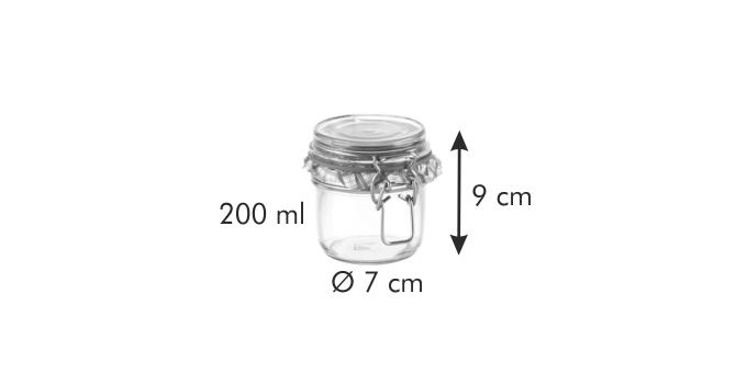 Tescoma DELLA CASA zavařovací sklenice s klipem 200 ml