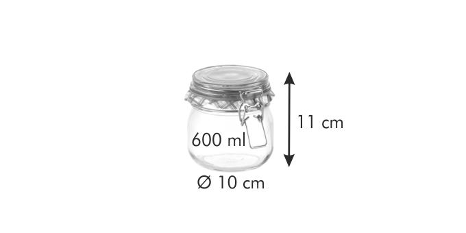 Tescoma DELLA CASA zavařovací sklenice s klipem 600 ml
