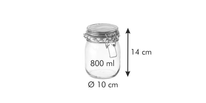 Tescoma DELLA CASA zavařovací sklenice s klipem 800 ml