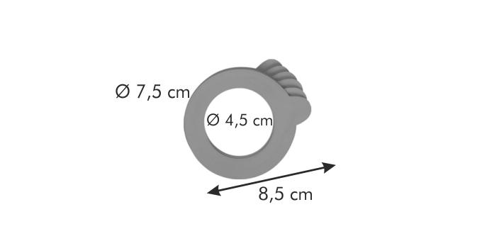 Tescoma DELLA CASA těsnění pro sklenice 100 ml 6 ks