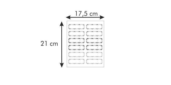 Tescoma DELLA CASA nálepka na sklenice 24 ks