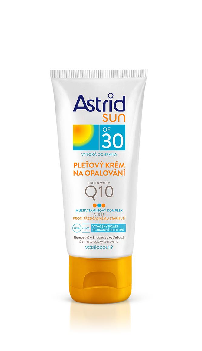 Astrid Sun pleťový krém na opalování s koenzymem Q10 OF 30 50 ml