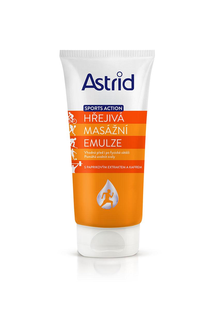 Fotografie Astrid hřejivá masážní emulze s paprikovým extraktem a kafrem 200 ml