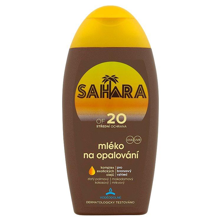 Sahara mléko na opalování OF 20 200 ml