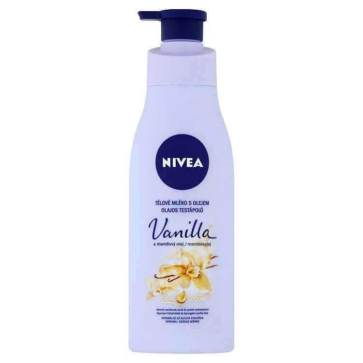 Nivea tělové mléko s olejem vanilka & mandlový olej 200 ml