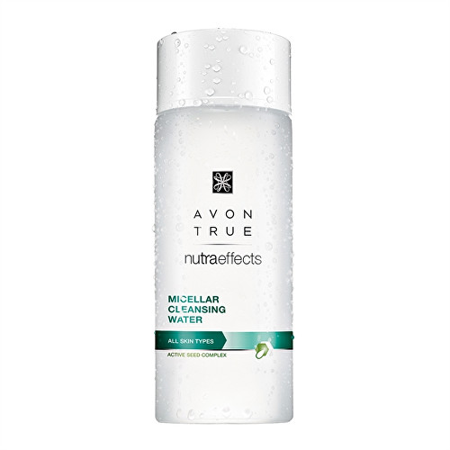 Avon True Nutra Effects micelární čisticí pleťová voda pro všechny typy pleti 200 ml