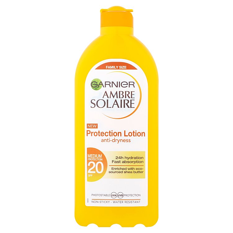 Garnier Ambre Solaire opalovací mléko OF 20 400 ml
