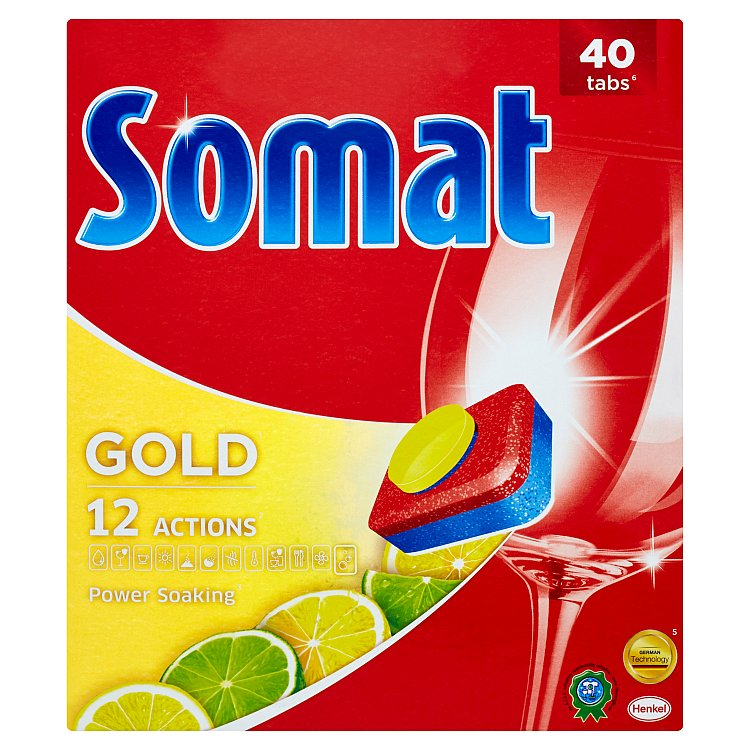 Somat Gold Lemon & Lime tablety do myčky 40 ks