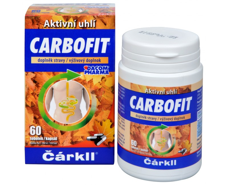 Fotografie Carbofit - aktivované rostlinné uhlí 60 tob.