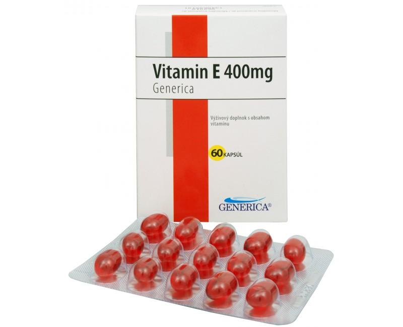 Fotografie Vitamín E 400 mg 60 kapslí