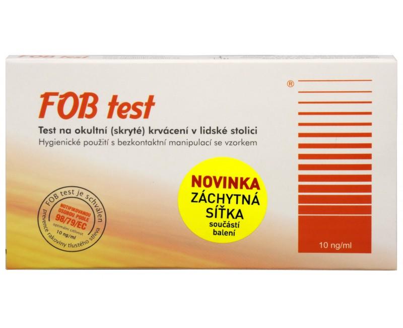 FOB test na okultní krvácení v lidské stolici 1 ks