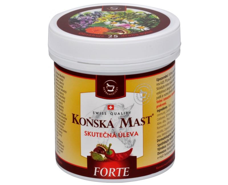 Koňská mast Forte hřejivá 500 ml
