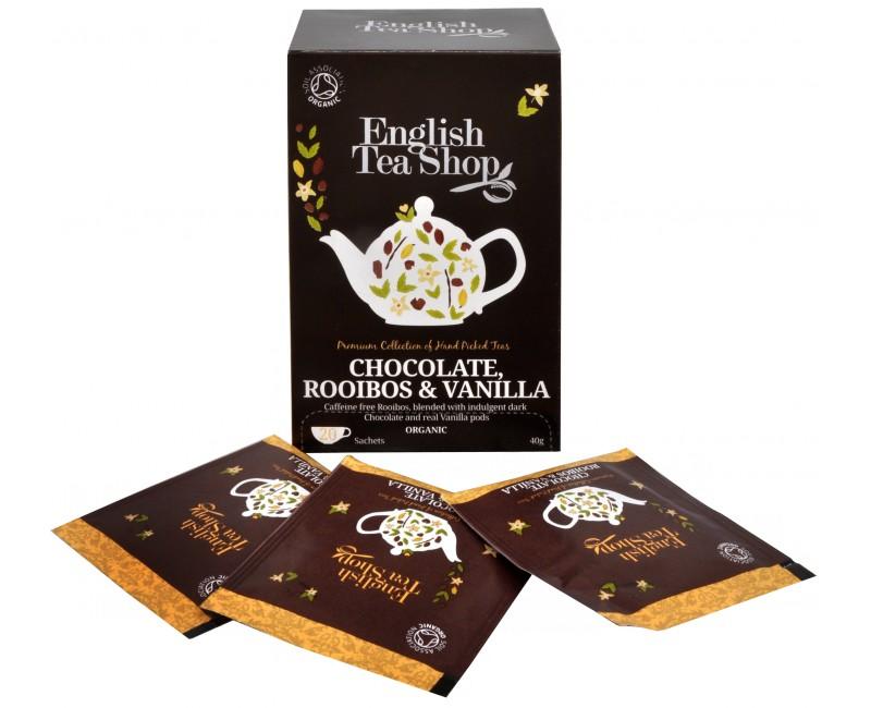 Fotografie English Tea Shop čaj Čokoláda, rooibos & vanilka 20 sáčků