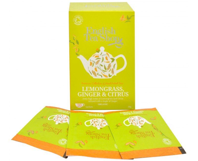 Fotografie English Tea Shop čaj Citrónová tráva, zázvor & citrusy 20 sáčků