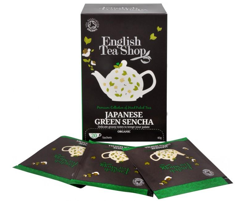 Fotografie English Tea Shop Japonský zelený čaj Sencha 20 sáčků