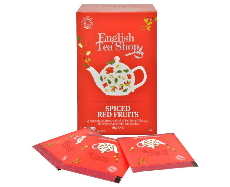 Fotografie English Tea Shop čaj kořeněné červené ovoce 20 sáčků