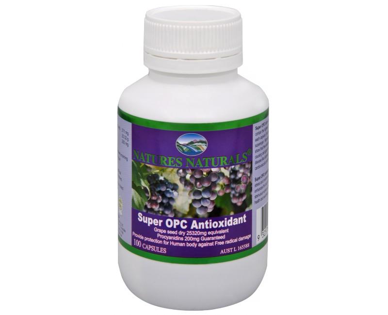 Fotografie Super OPC Antioxidant - výtažek z hroznových zrnek 100 kapslí