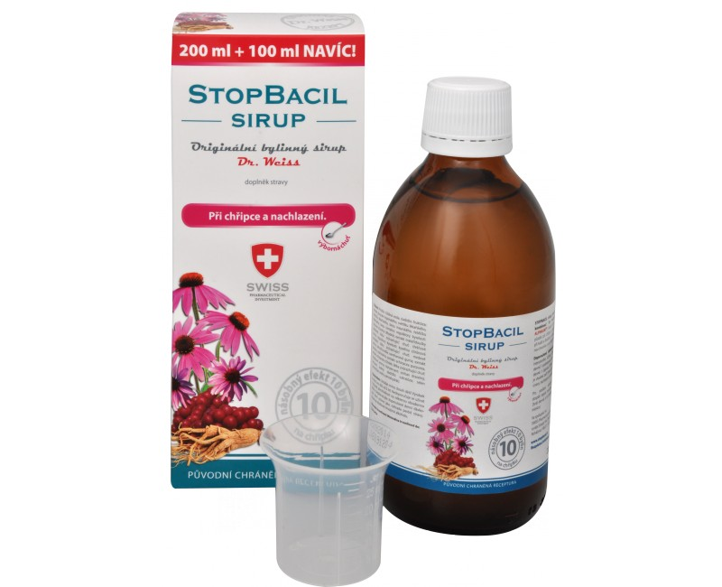 Fotografie Simply You StopBacil sirup Dr. Weiss 200 ml + 100 ml ZDARMA