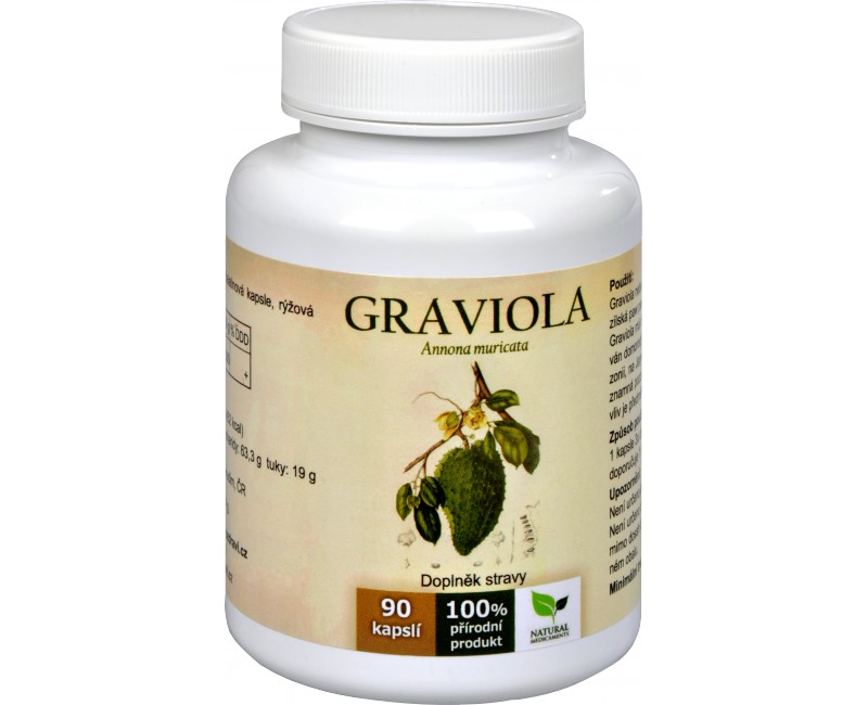 Graviola anona (Annona muricata) 90 kapslí