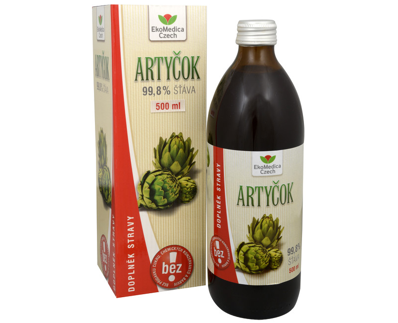 Fotografie Artyčok - 99,8% šťáva z artyčoku 500 ml
