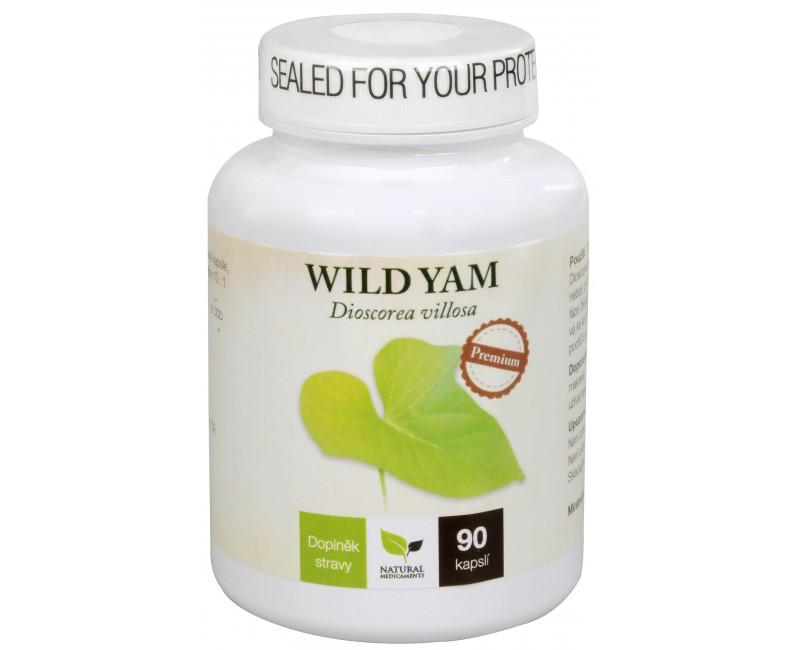 Fotografie Wild Yam Premium 90 kapslí