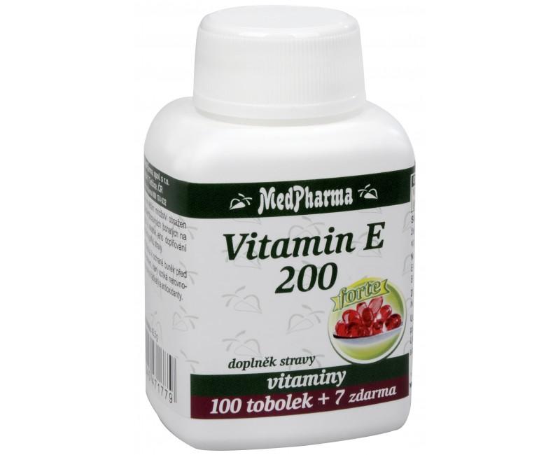 Fotografie Vitamín E 200 Forte 100 tob. + 7 tob. ZDARMA