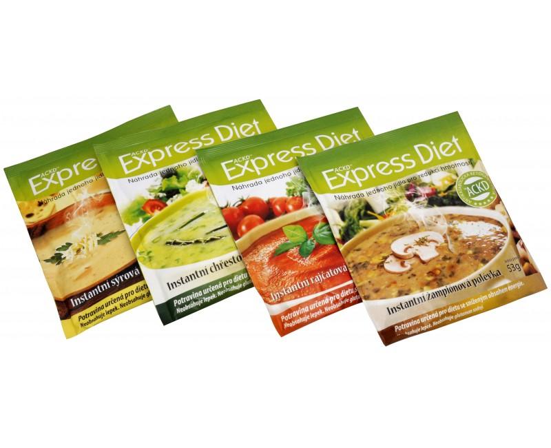Fotografie Express Diet - instantní polévka Kuřecí 55 g