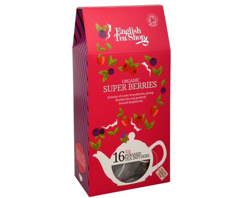Fotografie Super ovocný čaj Rooibos a červené ovoce 16 pyramidek