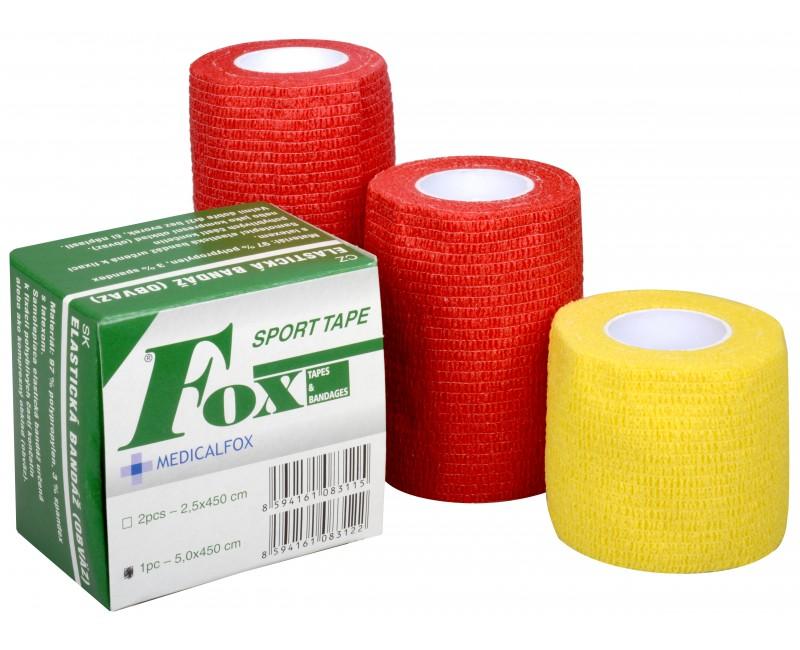 Fotografie Elastická bandáž Fox 10 x 450 cm