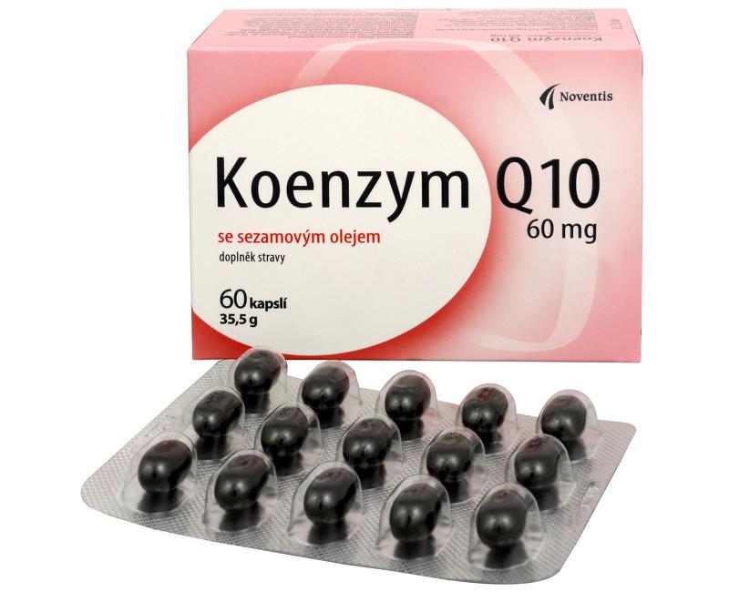 Koenzym Q10 60 mg se sezamovým olejem 60 kapslí