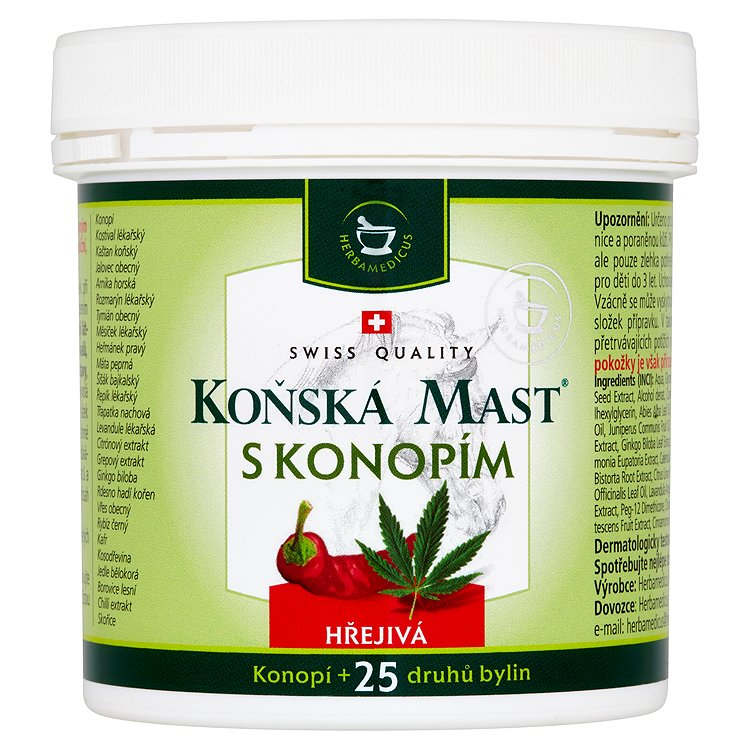 Herbamedicus Koňská mast s konopím hřejivá 250ml