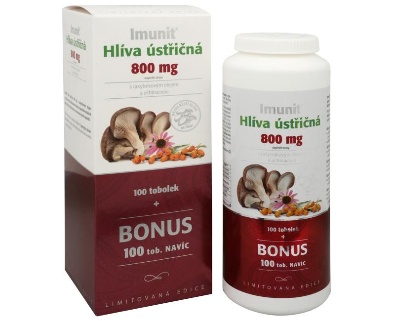 Fotografie Imunit Hlíva ústřičná 800 mg s rakytníkovým olejem a Echinaceou 100 tob. + 100 tob. ZDARMA