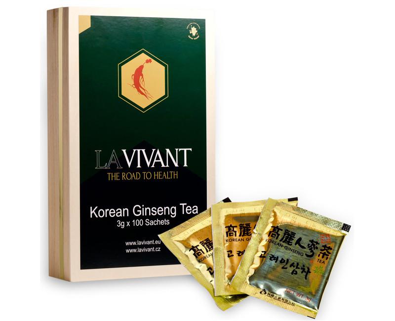 LAVIVANT Instantní čaj z korejského ženšenu 100 ks