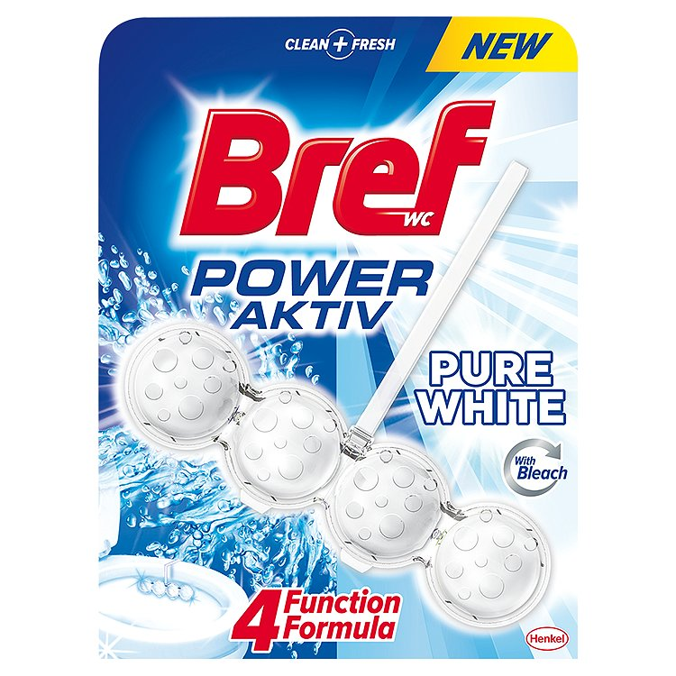 Bref Power Aktiv WC blok Pure White 50 g