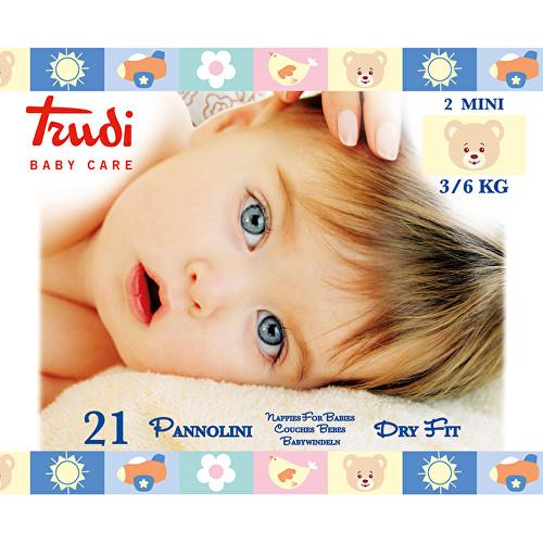 Fotografie Trudi Dry Fit Dětské pleny Mini 3-6kg 21ks