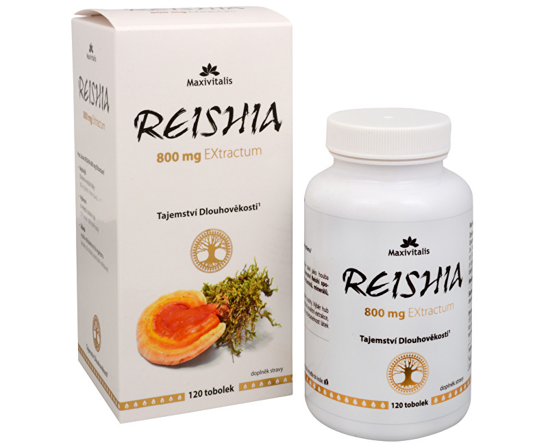 Fotografie REISHIA 800 mg EXtractum 120 tob.