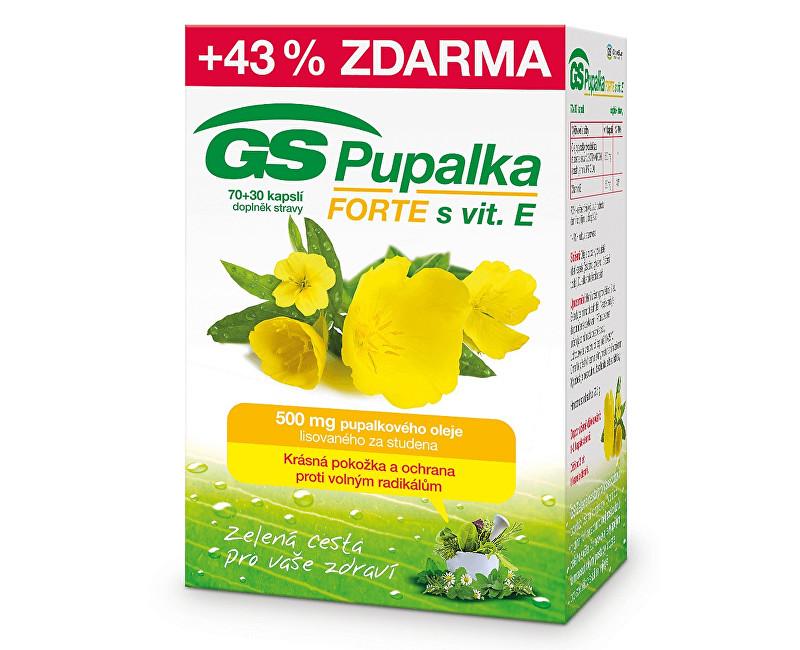 GS Pupalka Forte s vitaminem E 70 kapslí + 30 kapslí ZDARMA