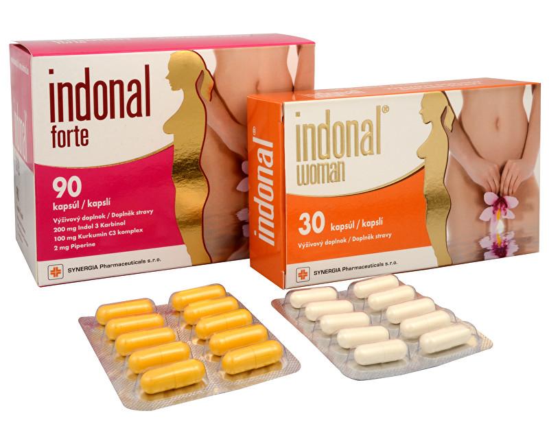 Indonal Forte 90 kapslí + Indonal Woman 30 kapslí