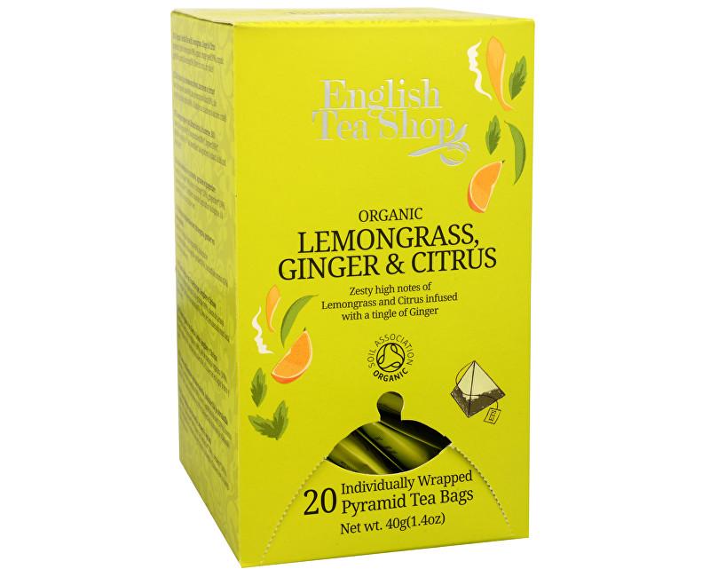 Čaj Citrónová tráva, zázvor & citrusy 20 pyramidek