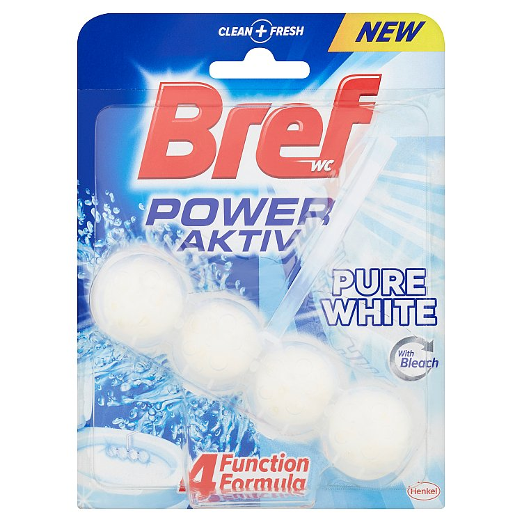 Fotografie Bref Power Aktiv WC blok Pure White 50 g