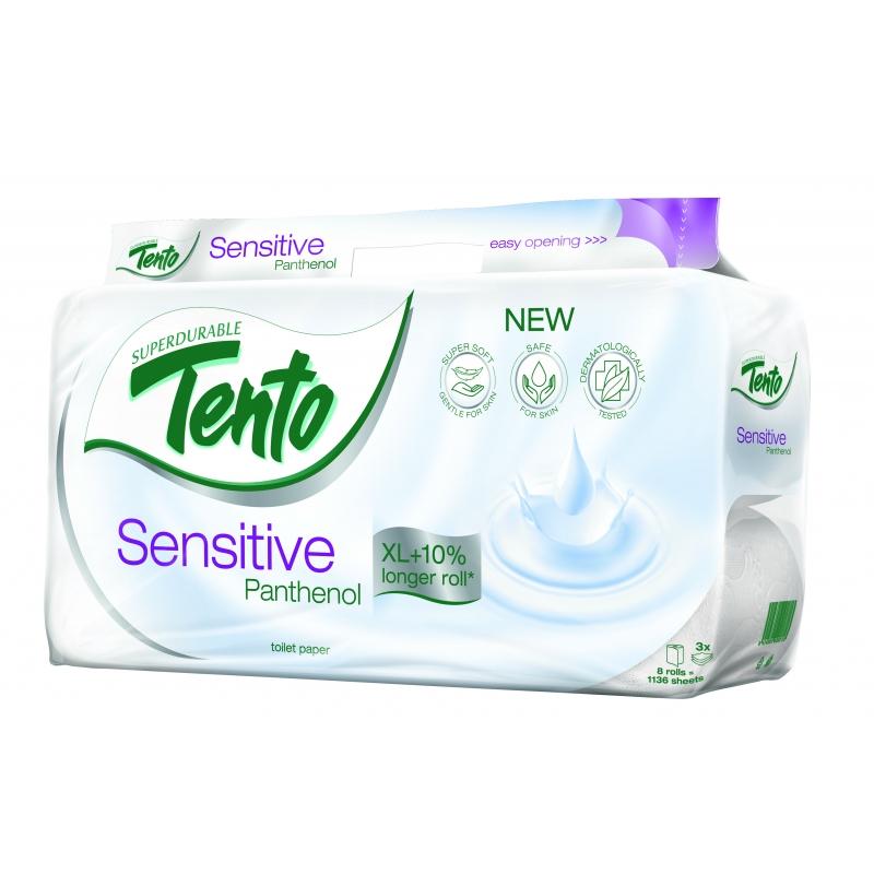 Tento Sensitive Panthenol toaletní papír - 3vrstvý 8 ks