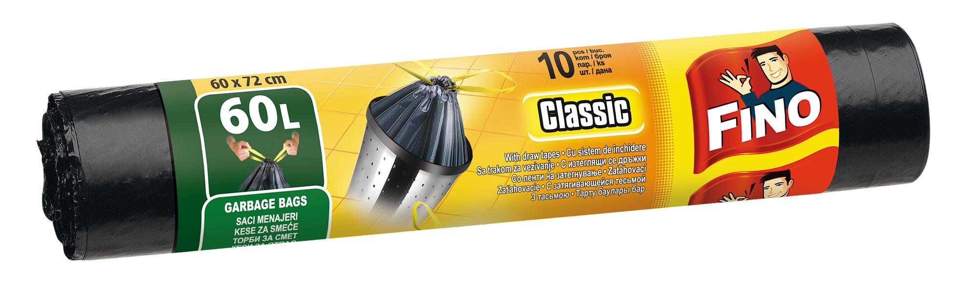 Fino pytle na odpadky zatahovací, 60 l 10 ks