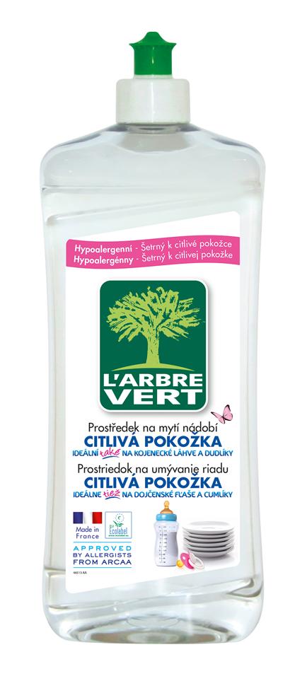 L'arbre Vert Sensitive ekologický přípravek na mytí nádobí 750 ml