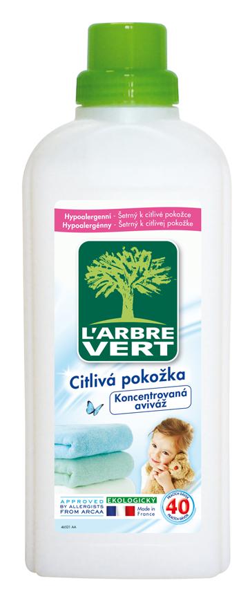 L'arbre Vert ekologická aviváž koncentrovaná, 40 praní 750 ml