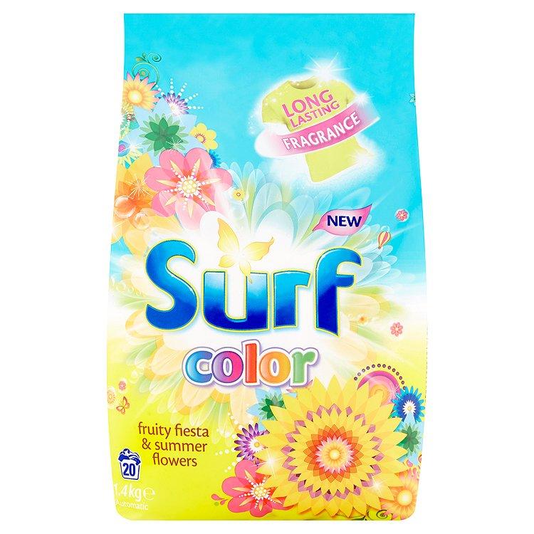 Fotografie Surf Color Fruity Fiesta & Summer Flowers prací prášek, 20 praní 1400 g